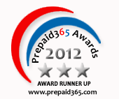 Prepaid365 Awards 2012 Runners Up Badge