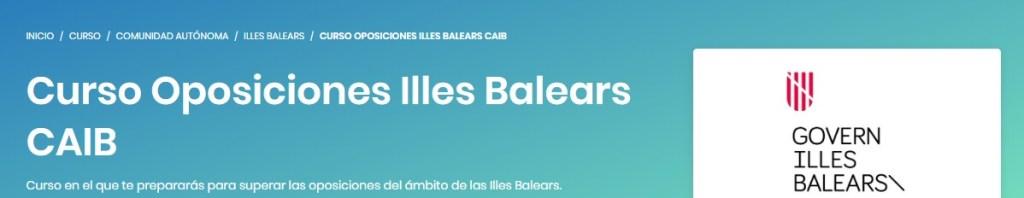 Curso de oposiciones para las Illes Balears