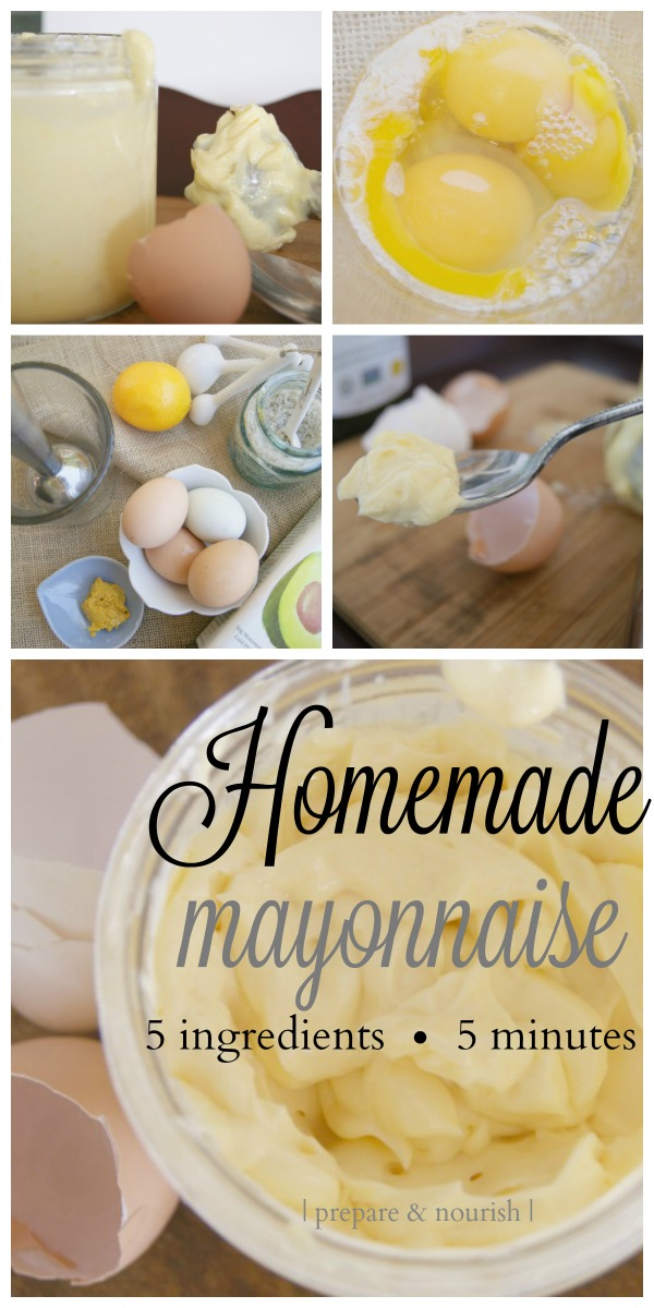 Homemade Mayonnaise - Learn how to avoid rancid vegetable oils and make this common #condiment yourself. If made from pastured eggs, #mayonnaise has a high #nutrient value.