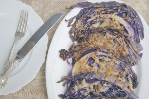 Parmesan & Garlic Roasted Cabbage - quick and easy side dish that is easy on the #budget and loaded with #nutrients.