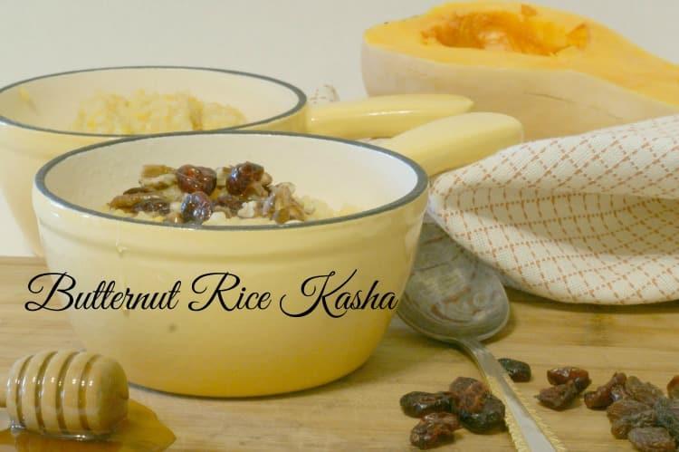 Butternut Rice Kasha - a lovely warm breakfast.