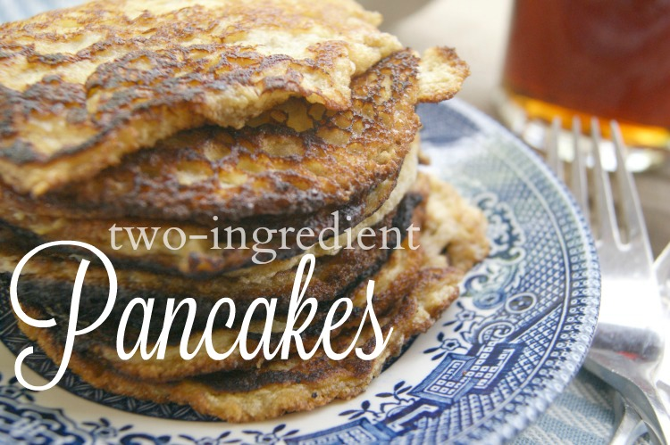 Banana & Egg Pancakes - simple to make with only TWO ingredients and completely #grainfree. #paleo #GAPS #whole30