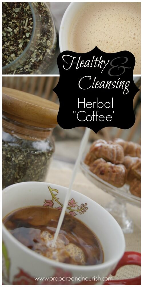 Creamy & Luscious Herbal Coffee - healing for adrenals and detoxifying for liver. Find the easy recipe by clicking over.
