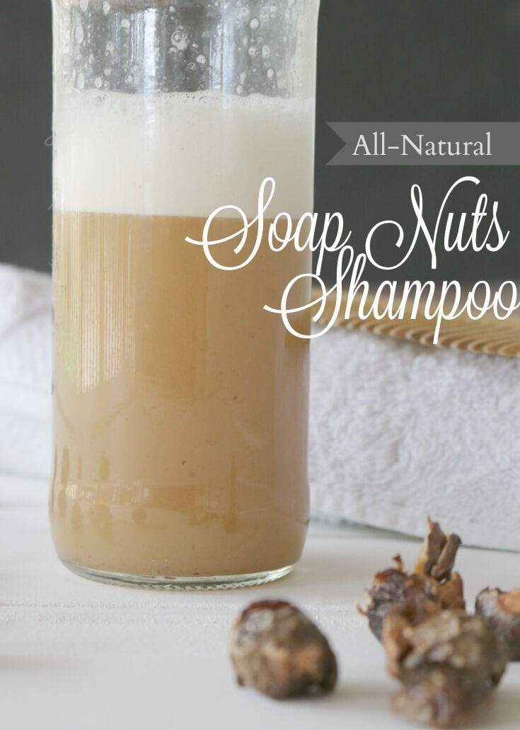 All Natural Soap Nuts Shampoo -ditch the parabens and clean those locks with all-natural, organic soap berries.
