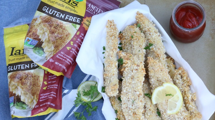 Baked Gluten Free Chicken Tenders - healthy alternative made with ancient grains such as quinoa and amaranth