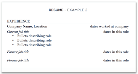 updating your resume with multiple jobs at one company the prepary