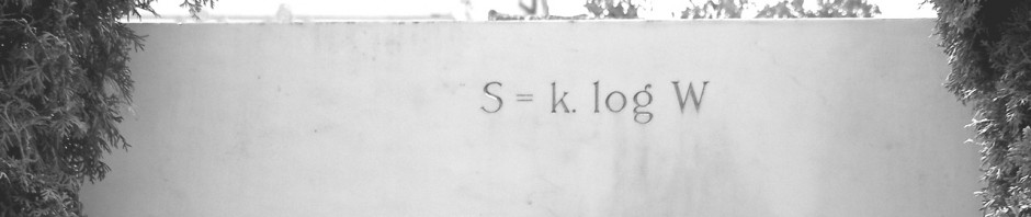 S = k log W