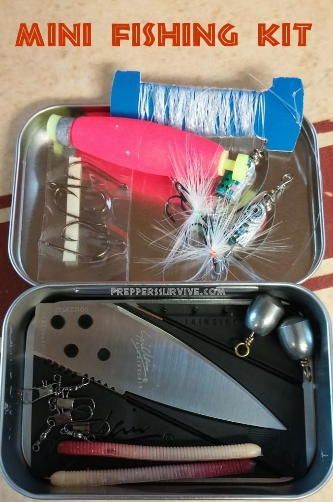 Kit#3 Mini Pocket Fishing Survival Kit BushCraft Emergency Bug out Bag