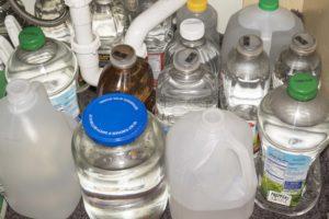 Old Water Storage -reused juice bottles - storage of water images - storage of water pictures