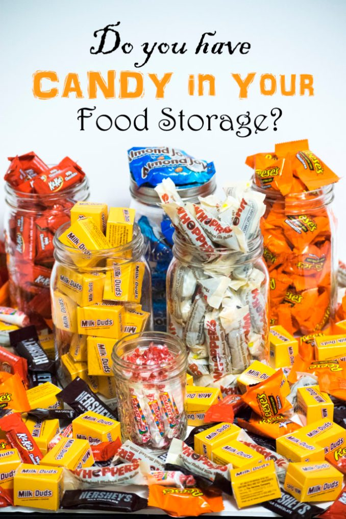 Storing Candy in Food Storage