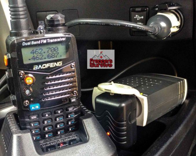 Recharge a Ham Radio - Car Power Inverter