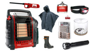Hurricane Emergency Supplies - off grid room