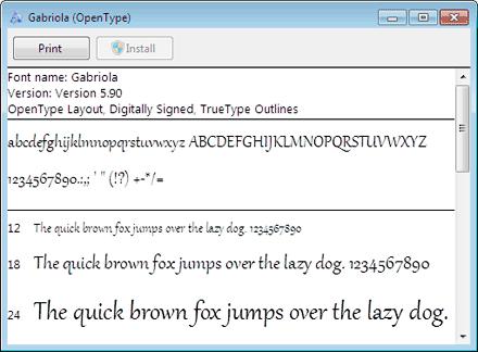 Windows 7  fonts