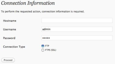 To perform the requested action, WordPress needs to access your web server. Please enter your FTP credentials to proceed. How to Solve it..?