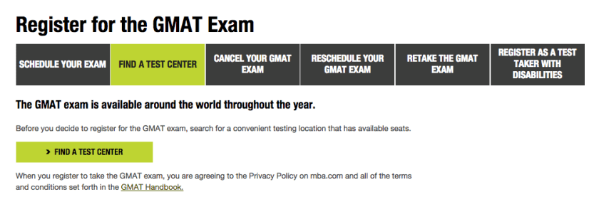 find a gmat test center