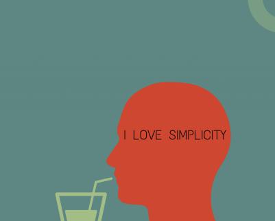 The brain loves simplicity!