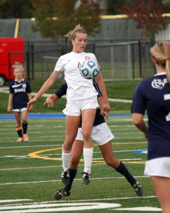 Olivia Wade was a top performer, even as a freshman during Davis' girls soccer state title run . (Photo by Kurt Johnson)