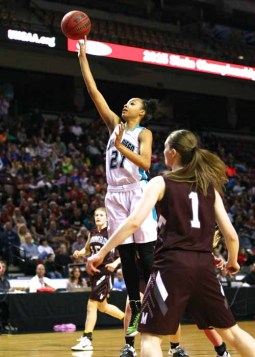 Monique Mills delivered all year long for unbeaten state champion Juan Diego. (Photo by Shane Marshall)