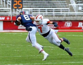 Timpview's defense has been a constant over three straight championship seasons. This year, it's led by Keenan Pili. (Photo by Shane Marshall)