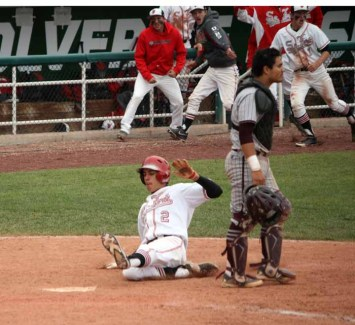Nic Roberts scores the go-ahead run in Spanish Fork's state championship win. (Photo by Kurt Johnson)