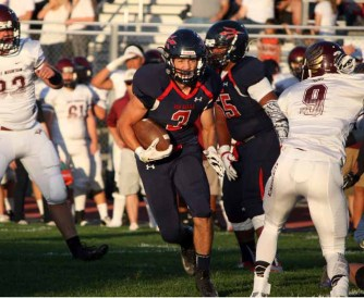 Springville's Bryce Nelson had a big night as the Red Devils held on to beat Maple Mountain. (Photo by Kurt Johnson)