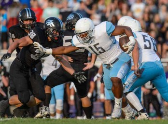 Running back Mason Tye of Sky View. (Photo by Dave Argyle, dbaphotography.com)