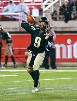 Nick Warmsley had a big night running and passing for Desert Hills. (Photo by Shane Marshall)