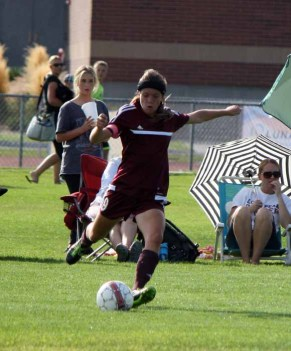 Lone Peak senior midfielder TJ McKendrick is dangerous on free kicks. (Photo by Kurt Johnson)