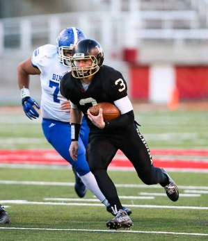 Quarterback Talmage Gunther is the catalyst for the Lone Peak offense. (Photo by Kevin McInnis)
