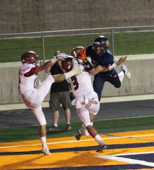 Simi Fehoko delivers one of the year's best catches in a game against Herriman. (Photo by Christopher Lund)