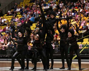 The Azurettes perform at the 2013 state championships on their way to their first state title. (Photo by Shane Marshall)