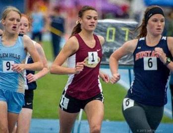 Maple Mountain's Britney Lund will run collegiately at BYU. (Photo by Jeff Porcaro, MapleMountainSports.com)
