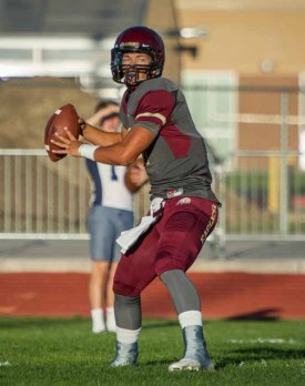 Jaren Hall will play football at BYU after his two-year mission. (Photo by Jeff Porcaro, maplemountainsports.com)