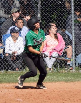 Provo senior Kacie Allman hit .388 this season. (Photo by Kurt Johnson)