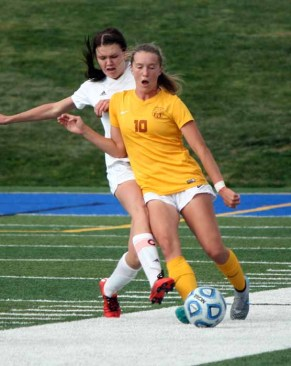 Olivia Wade scored 32 goals for the Davis girls soccer powerhouse in 2015 and has 32 more so far in 2016. (Photo by Kurt Johnson)
