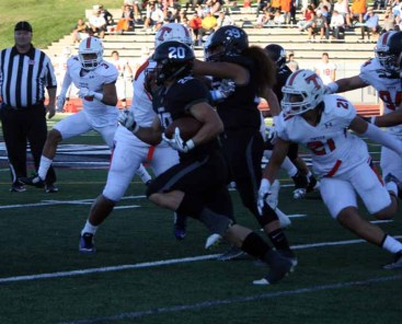 Josh Davis & Alta ran through Timpview in the second half. (Photo by Kurt Johnson)