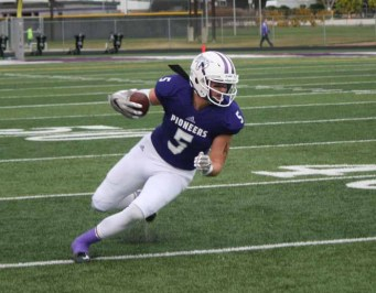 Dallin Holker is a huge threat at tight end for Lehi. (Photo by Kurt Johnson)