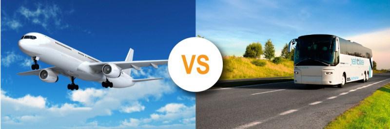 autocar vs avion
