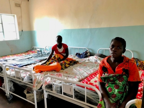 Expectant mothers at the Egichikeni Rural Health Center enjoying the comfort of the new beds and mattresses.