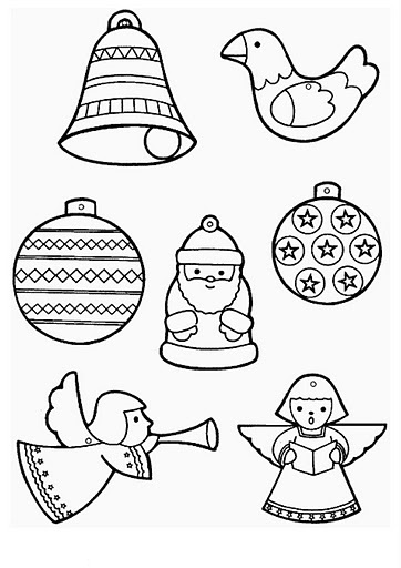 christmas ornament coloring page # 5