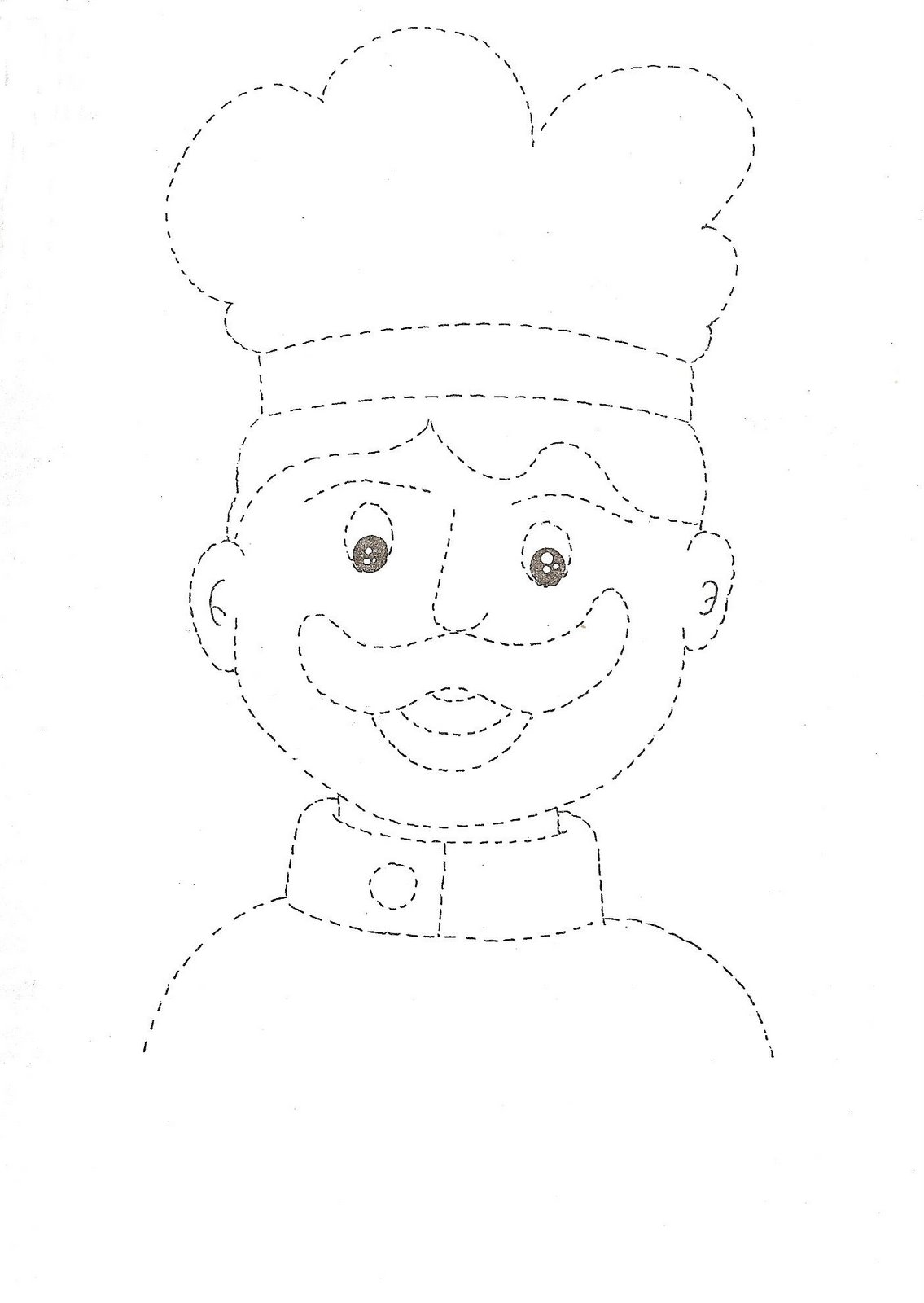 Community Helper Trace Worksheet For Kids