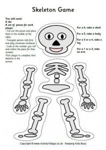 Printable Skeleton Craft Coloring Page