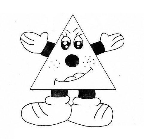 triangle coloring page # 52