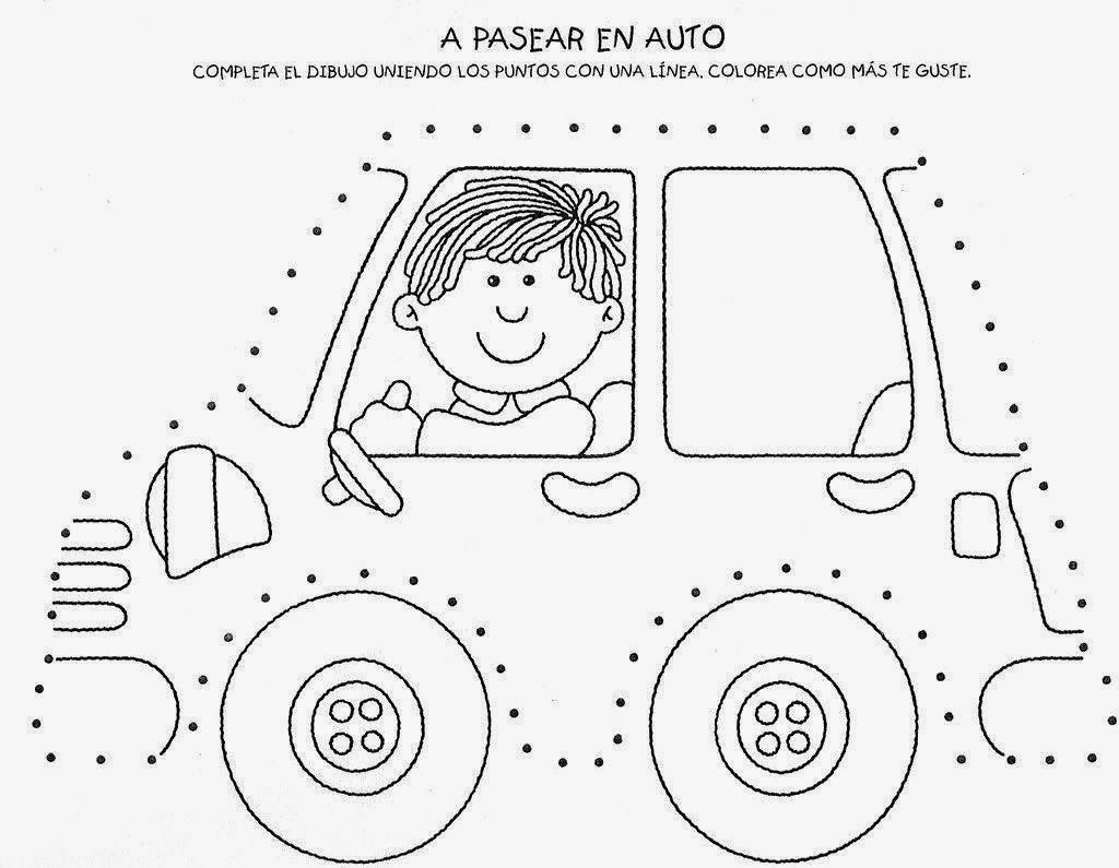 Car Trace Worksheet For Kids 795