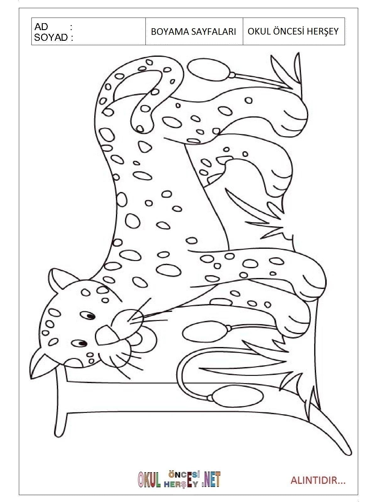 Free Printable Jaguar Coloring Pages For Kindergarten