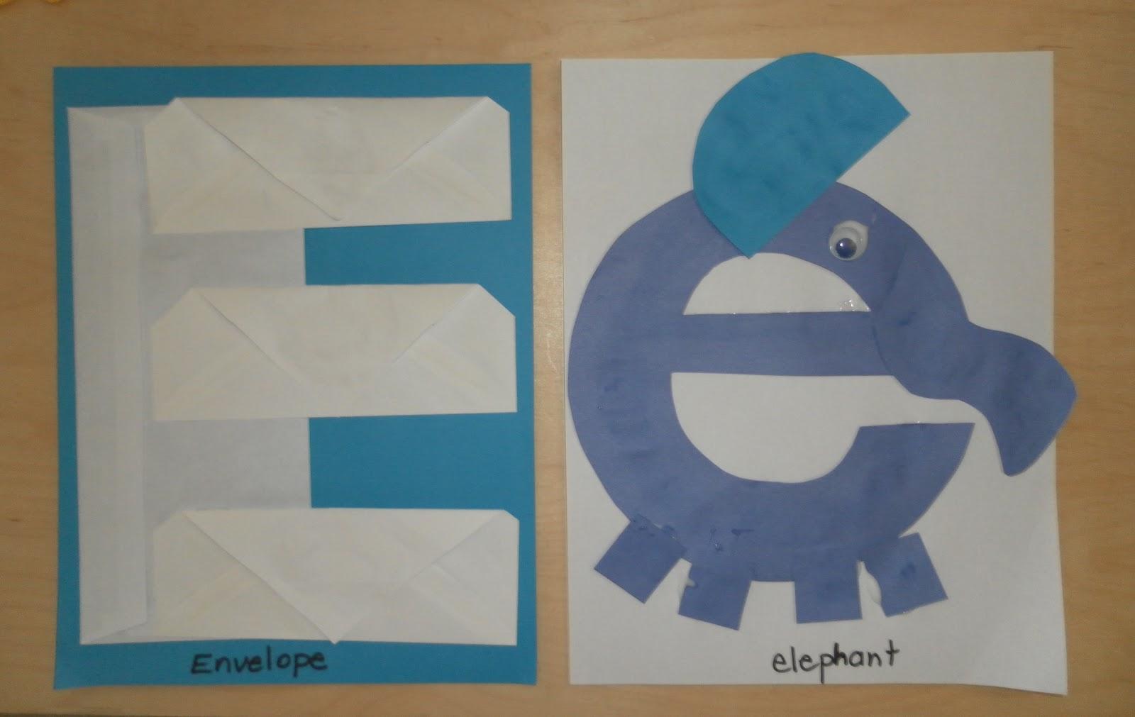 Letter E Crafts