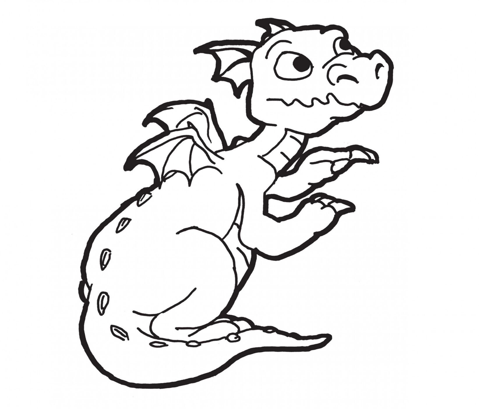 Dragon Coloring Pages For Preschool
