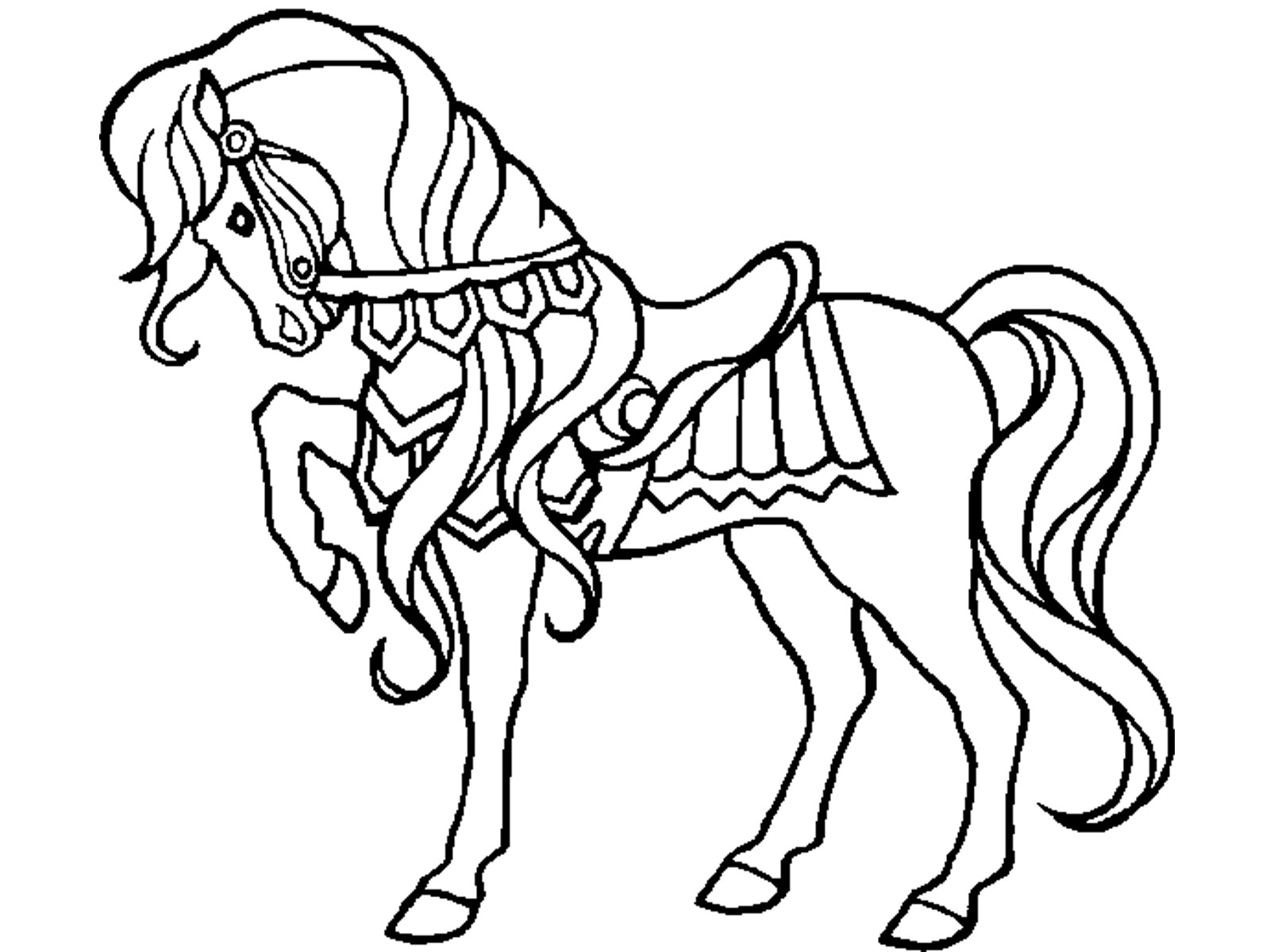 Free Animals Horse Printable Coloring Pages For