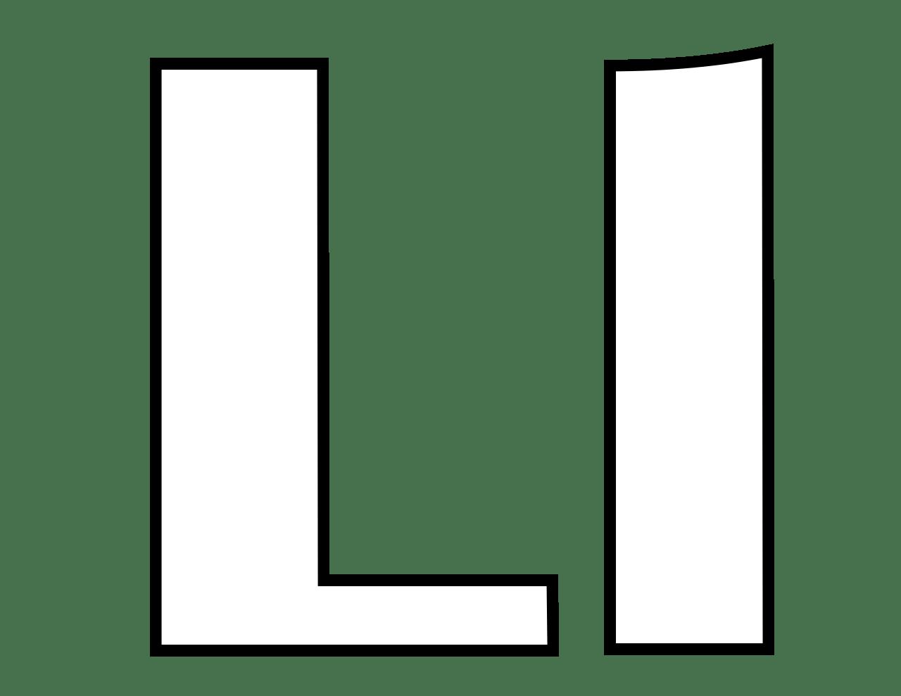 Letter L Coloring Pages
