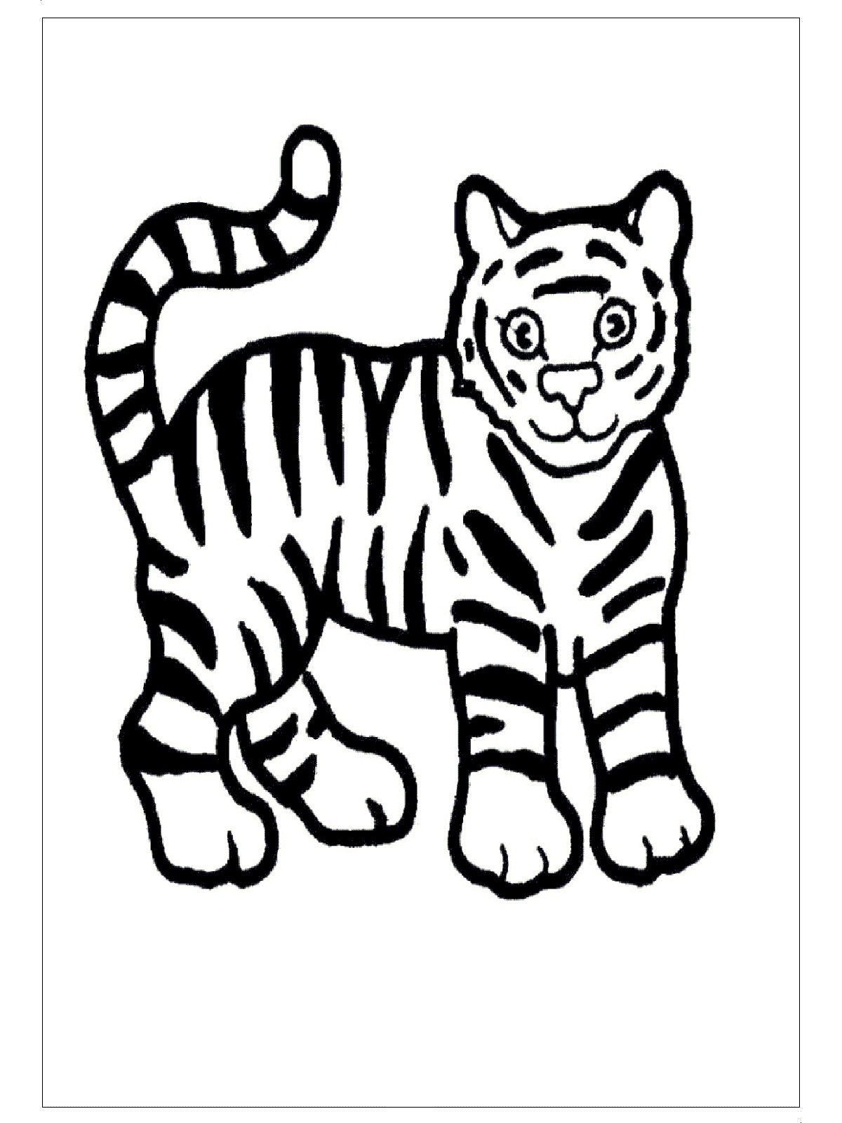 Free Printable Tiger Coloring Pages Ideas For Preschool